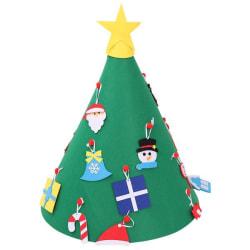 Julpyssel / jullek /klä julgran, stor filtgran 75x50 cm