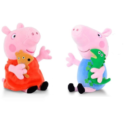 Peppa pig - Greta gris - syskonpar i mjuk plysch  (2 st)  multifärg
