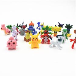 Pokemon figurer 48 st. Alla set inneh Pikachu, adventskalender multifärg