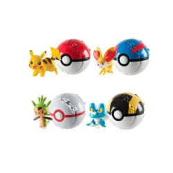 Pokemon Go kastbollar som utvecklar sig + Pokemon figur (4-PACK) multifärg