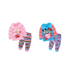 Pyjamas Frost / Mimmi /Mickey Mouse - 100% bomull, stl 100-130cl Mimmi&Musse 100 cl