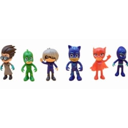 PYJAMASHJÄLTARNA figurer, PJ-masks -6 st/set