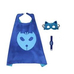 Pyjamashjältarna - PJ masks, cape / ögonmask / armband - Catboy Blå