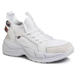 Chunky Knit Runner Sneakers Vit White 10.5