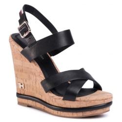 Corporate Wedge Sandaler Black 7