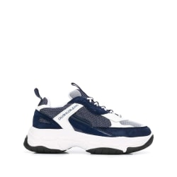Marvin White Navy Trainers White 11