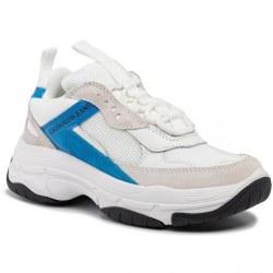 Maya White Blue Aster Trainers White 8