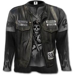 Spiral - JAX WRAP - Allover Licensed Long Sleeve SOA T-Shirt Bla XX-Large / Black