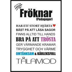 Poster Fröknar  multifärg