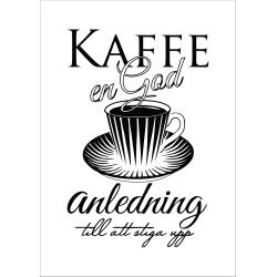 Poster till ram A4 bild kaffe