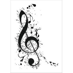 Poster till ram A4 bild musik