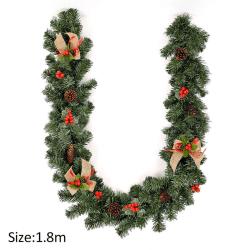 1.8M 6FT Christmas Garland Pine Cone Wreath Decoration
