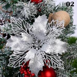 1PC Christmas Flowers Tree Glitter Hollow DIY 2