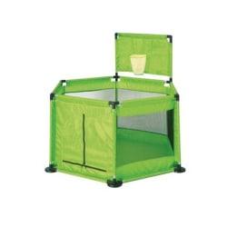 Tavalax Infant bärbar lekplats, grön med en korg