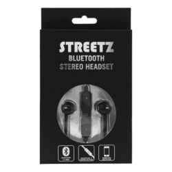 STREETZ Bluetooth in-ear headset - Svart
