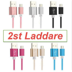 2-PACK Extra Stark Snabbladdning 1M USB-C kabel / laddare Type-C Rosa