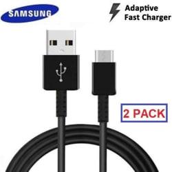 [2-pack] Original Samsung Galaxy USB-C S10 snabbladdning Kabel Black