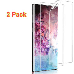 2 Pack Samsung Galaxy note 10 Skärmskydd med böjda kanter Transparent
