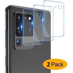 2-Pack Samsung Galaxy S20 Ultra Bak kamera Skärmskydd  Transparent