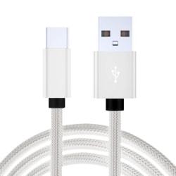 2-PACK Snabbladdning 2M USB-C kabel /laddare / laddsladd Vit