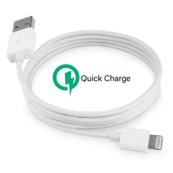 2M Quick charge laddare iPhone 5/6/6s/6 Plus/7/8/X/11/iPad  White