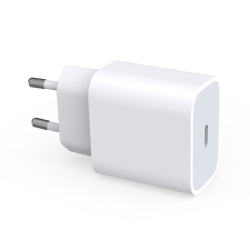 iPhone laddare för Apple 11/12 USB-C strömadapter 20W PD Vit Vit
