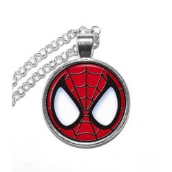 Halsband Brons Silver Spindelmannen Spiderman Mask Logga Marvel Silver