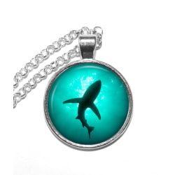 Halsband Nickelfritt Haj Shark Silver
