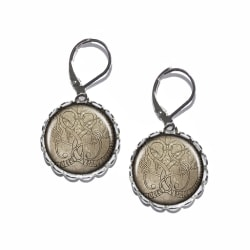 Örhängen Brons Silver Brisyr Runsten Rune Stone Vikingar Nordmän Silver