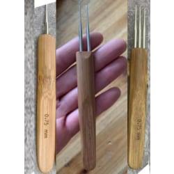 3x nål för flätat hår micro flappen nål dread lock craft diy cr Uppsättning 3pcs