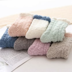 5Pairs kvinnor damer vinter varm mjuka fluffiga säng strumpor l Slumpmässig