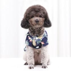 Hawaiian Pet Dog T Shirts Cat Dog Summer Beach T-shirt Väst för Marin S