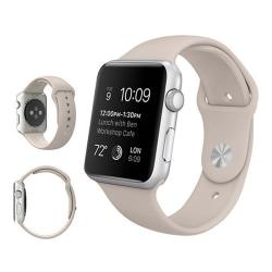 Armband för Apple Watch 38mm - Gummi Sandvit