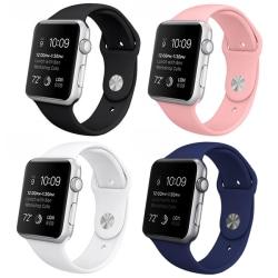 Armband för Apple Watch 42mm - Gummi Svart
