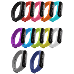 Armband för Xiaomi Mi Band 3 - Silikon Vit