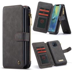 CaseMe för Huawei Mate 20 Pro - Plånboksfodral magnetskal Svart