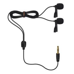 CoMica Dubbel Lavaliermikrofon [För kamera, SmartPhone,]