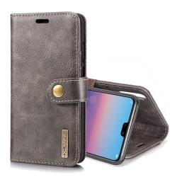 DG.MING för Huawei P20  - Plånboksfodral med magnetskal Mörkbrun