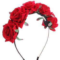 Diadem - Stora rosor Röda Röd