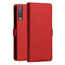 DZGOGO för Galaxy A7 (2018) - Flipfodral med kortplats röd Röd