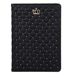 Fodral iPad Air 2 - Guldfärgad krona svart Svart