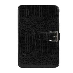 Fodral iPad mini 1/2/3 - Krokodilmönster svart