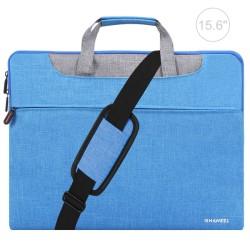 HAWEEL 15.6-tums laptopväska med axelrem (blå) Blå 15.6-tum