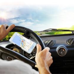 HAWEEL Mobilhållare som fästes i bilens ratt (svart) Svart