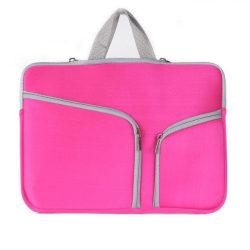 Laptopväska Macbook Air 13.3-tum - Dragkedja rosa