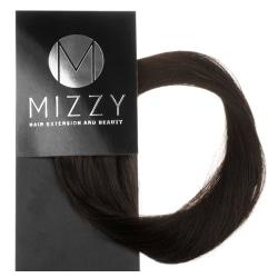 Mizzy #2 Mörkbrun - Premium äkta hår remy microringar