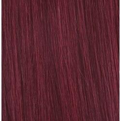 Mizzy #BURG Vinröd - Premium äkta hår remy gloriatråd