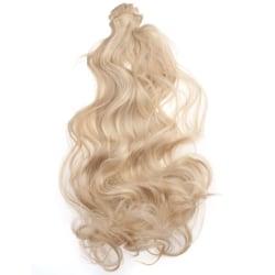 Mizzy Löshår lockigt Clip on 7 delar - Blond #16H613