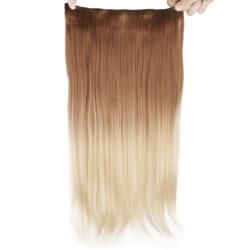 Mizzy löshår rakt 5 Clip on dip dye - Brun&Blond #27T613