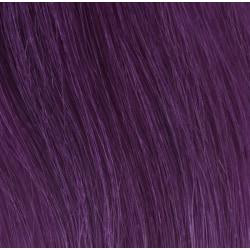 Premium Single Drawn äkta hår microringar #PURPLE 50cm